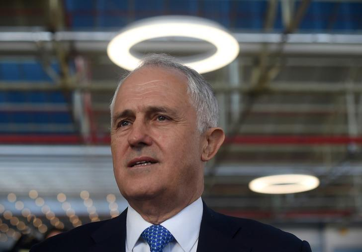 Australian Prime Minister Malcolm Turnbull is seen during an event at Flinders University in Adelaide, Australia,